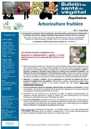 Etat g n ral de la vigne ph nologie chambre d for Chambre d agriculture aquitaine