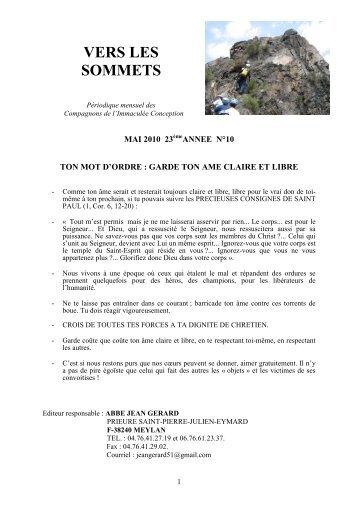 Vers les sommets de mai 2010 - La Porte Latine