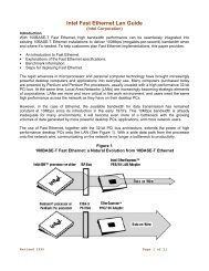 Intel Fast Ethernet Lan Guide - Bandwidthco Computer Security