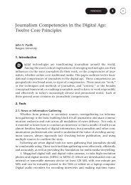 Journalism Competencies in the Digital Age: Twelve Core ... - CICR