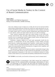 Use of Social Media in Turkey in the - CICR - Universitat Ramon Llull