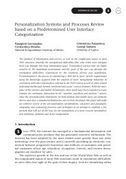 Personalization Systems and Processes Review based on a ... - CICR