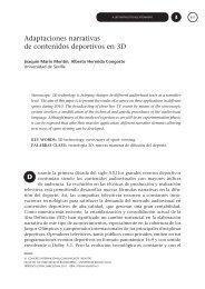 Adaptaciones narrativas de contenidos deportivos en 3D D - CICR ...