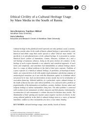 Ethical Civility of a Cultural Heritage Usage by Mass Media in the ...