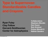 Ryan Foley Clay Fellow Harvard-Smithsonian Center for ... - ciera