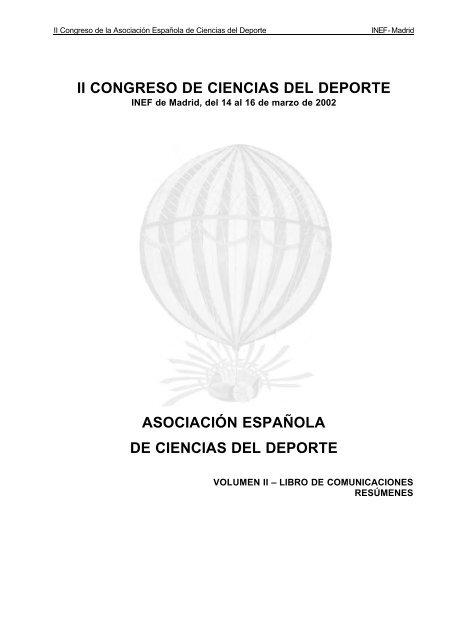 Libro De Actas Vol Ii Ciencias Del Deporte Universidad