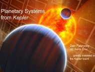 Planetary Systems from Kepler - ciera