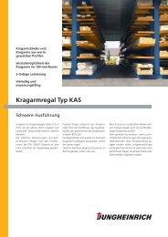 Kragarmregal Typ KAS