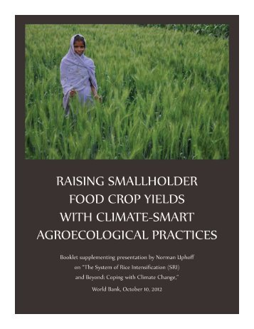raising smallholder food crop yields with climate-smart ...