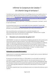 Infirmer la Conjecture de Catalan - Les suites aliquotes