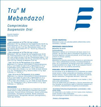 Tru® M Mebendazol - Laboratorio Elea