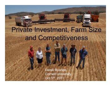 PDF of Derek Byerlee's presentation - Cornell International Institute ...