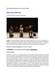 geneveactive.ch - Bertrand Tappolet - 23/07/2009 - Théâtre de Poche