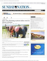 New rice farming system takes root in Mwea scheme - The System of ...