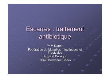 Escarre : traitement antibiotique - CLIN Sud-Ouest