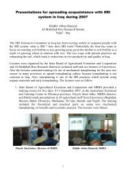 training course - The System of Rice Intensification