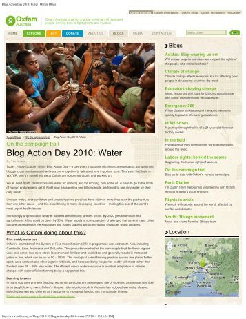 Blog Action Day 2010: Water - The System of Rice Intensification