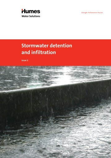 Stormwater detention and infiltration brochure - Humes