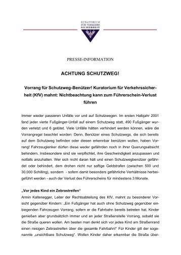 ACHTUNG SCHUTZWEG!