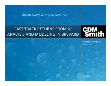 fast track returns from i/i analysis and modeling in ... - NC AWWA-WEA