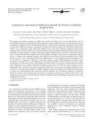 Comparative Assessment of Infiltration, Runoff and Erosion of ...