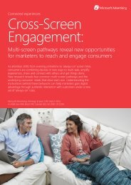 Cross-Screen Engagement Research Report - Microsoft Advertising