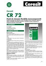 CR 72 fisa tehnica - Ceresit