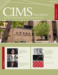 Newsletter - Courant Institute of Mathematical Sciences - New York ...
