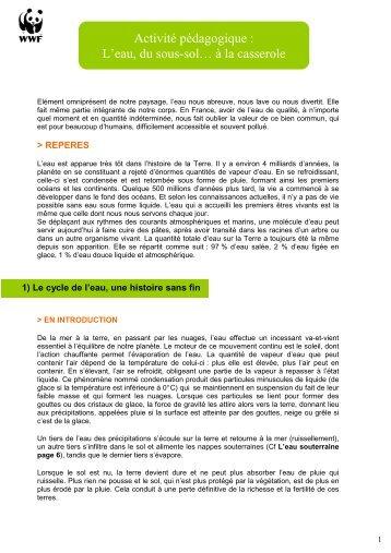 L'eau, du sous-sol… à la casserole - WWF France