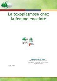 La toxoplasmose chez la femme enceinte - Serveur UNT-ORI