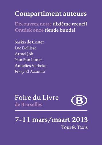 Compartiment auteurs - Foire du Livre de Bruxelles