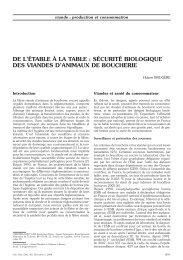 sécurité biologique des viandes d'animaux de boucherie - Index of