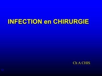 INFECTION en CHIRURGIE