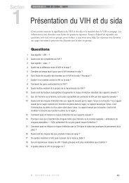 agir - Section 1 Présentation du VIH et du sida