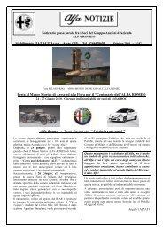 """Tanti Auguri per """" I primi cento anni - Gruppo Seniores Alfa Romeo"""