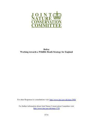 Working towards a Wildlife Health Strategy - JNCC - Defra