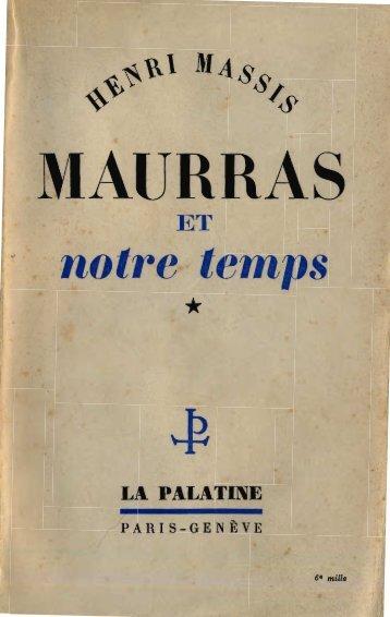 volume 1 - Maurras, Charles