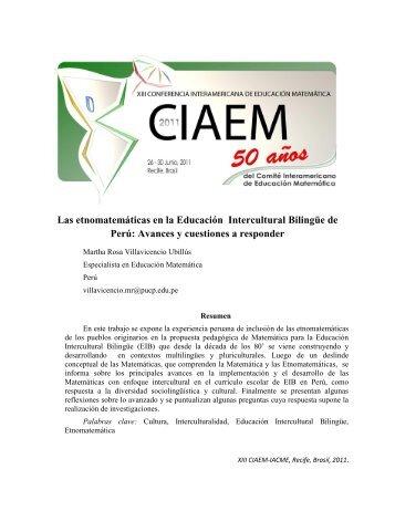 Las etnomatemáticas en la Educación Intercultural Bilingüe ... - CIMM