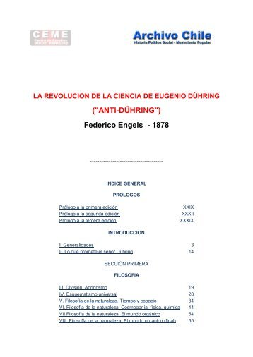 "(""ANTI-DÜHRING"") Federico Engels - 1878 - Archivo Chile"