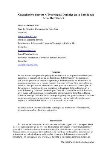 Capacitación docente y Tecnologías Digitales en la Enseñanza de ...