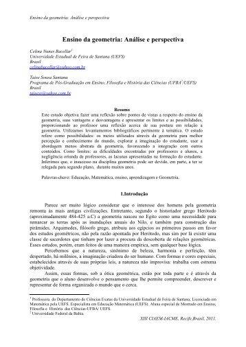 Ensino da geometria: Análise e perspectiva - CIMM