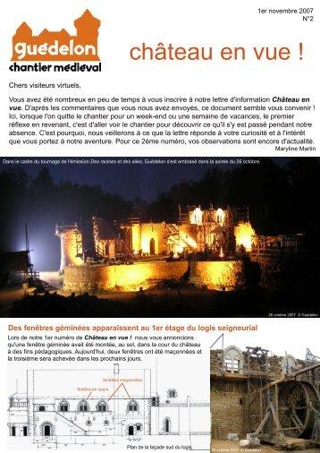 """Château en vue ! "" N°2 (PDF - 595 Ko) - Guédelon"