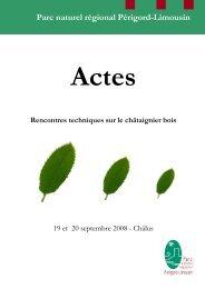 Actes des rencontres - Parc naturel régional Périgord-Limousin
