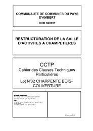 cctp lot 02 charpente couverture - Communauté de communes du ...