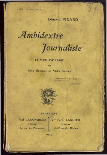 Ambidextre Journaliste - Archives et musée de la littérature