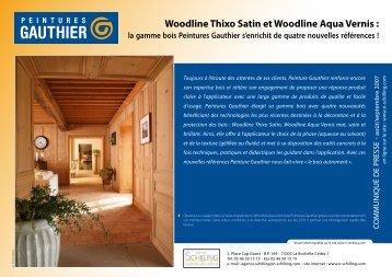 Woodline Thixo Satin et Woodline Aqua Vernis - Peintures GAUTHIER