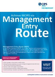 Management Entry Route - The Chartered Institute of Purchasing ...