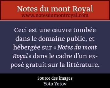 Gravures Hors texte - Notes du mont Royal
