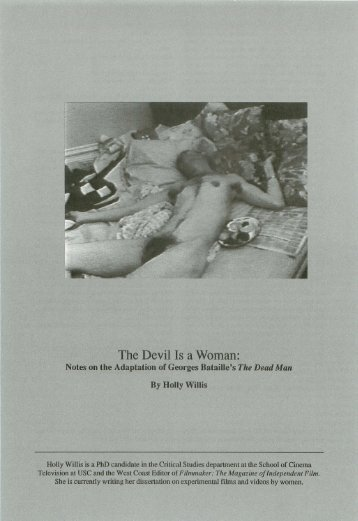 The Devil Is a Woman: - USC School of Cinematic Arts