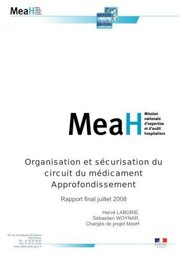 Organisation et sécurisation du circuit du médicament ... - Anap